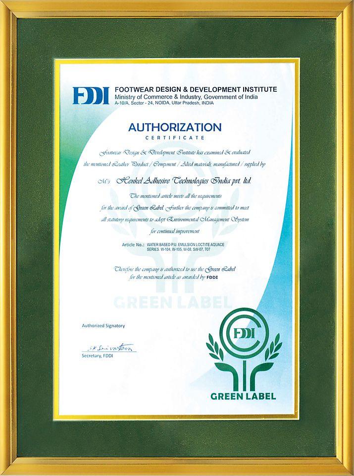 Green Label Certificate