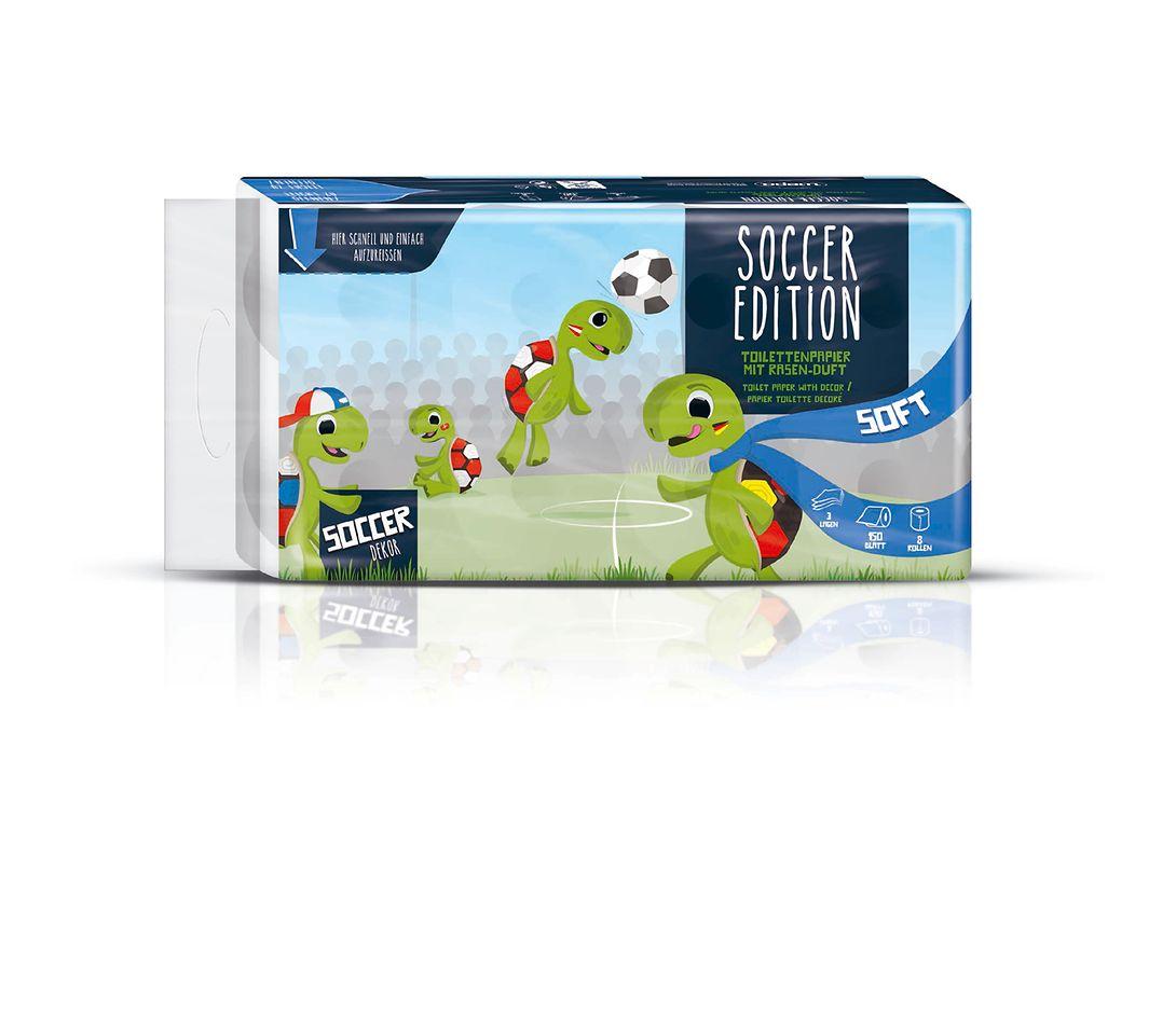 Fußball-Edition Toilettenpapier mit Rasenduft