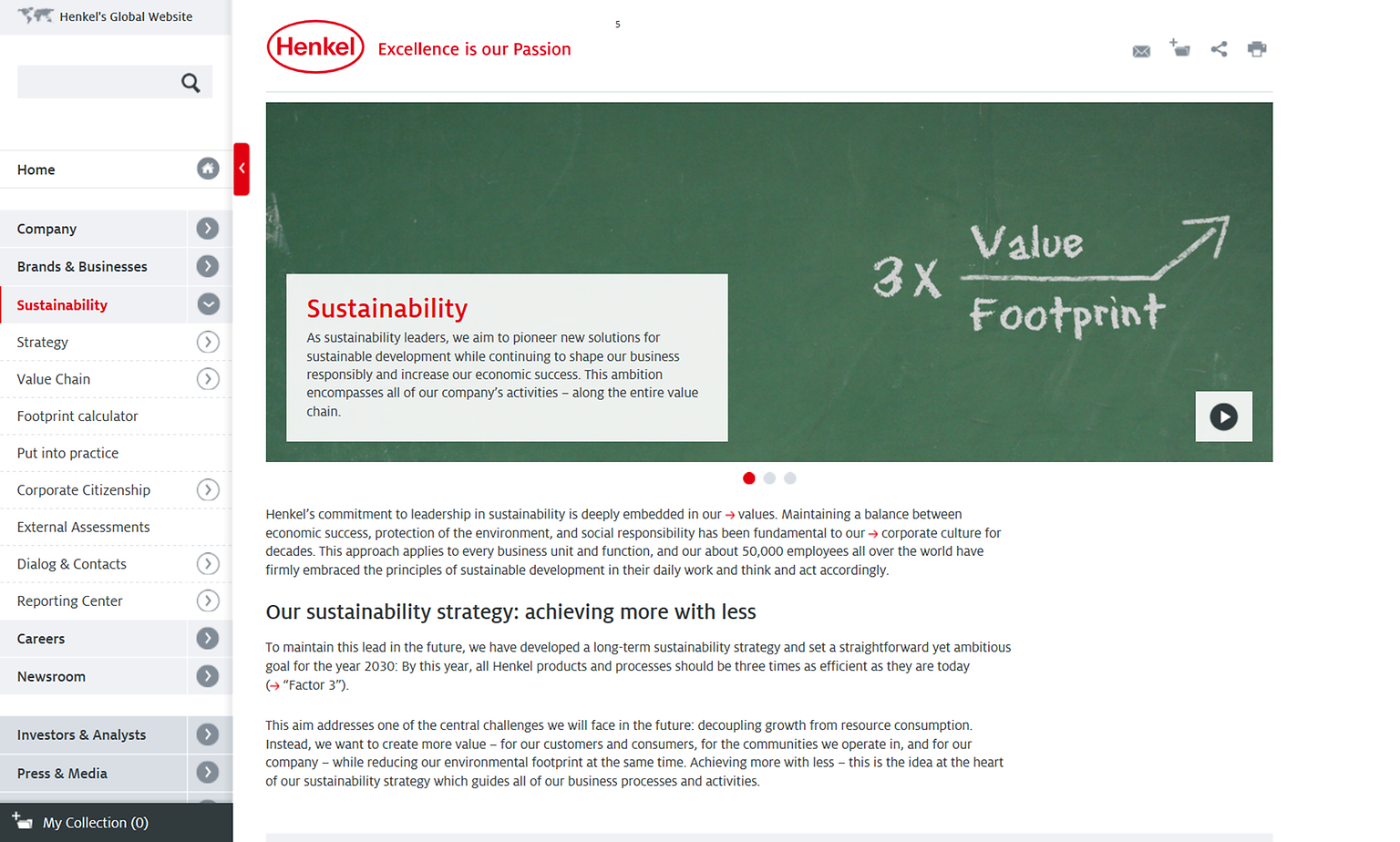 Henkel Website Sustainability
