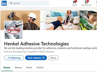 The new Henkel Adhesives global LinkedIn page
