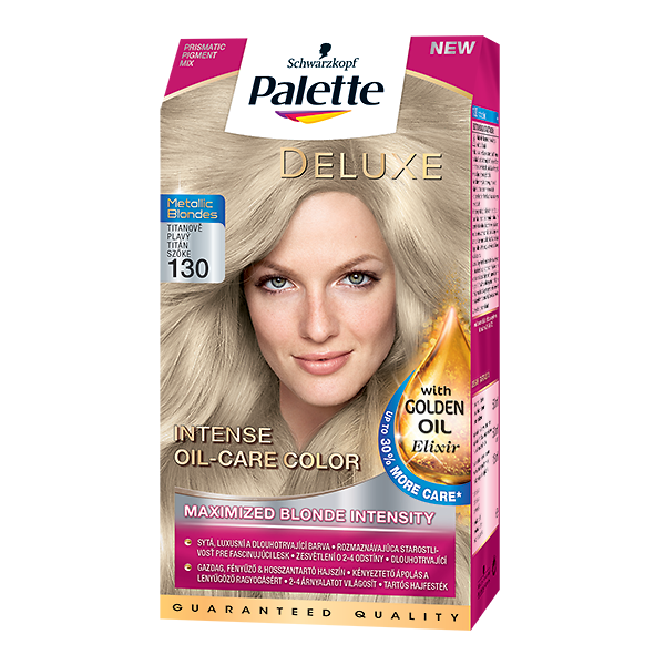 Palette Deluxe Metallic Blonde 130 Titánový blond
