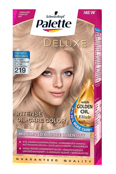 Palette Deluxe Metallic Blonde 219 Platinovo-perleťový blond