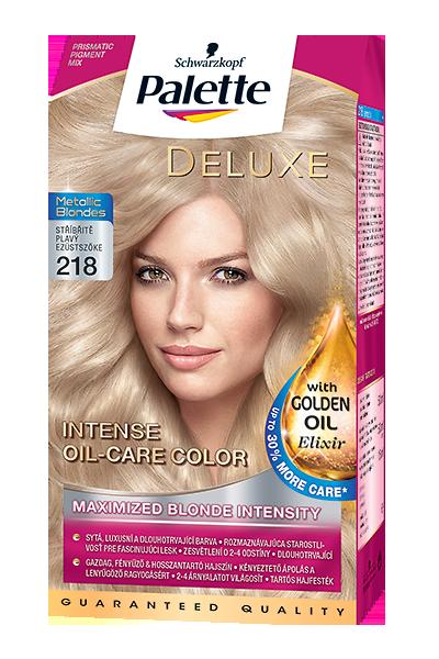 Palette Deluxe Metallic Blonde 218 Striebristý blond