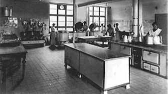 In 1915, the first canteen kitchen was opened