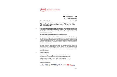 2016-09-27-Fuer sanftes Badevergnuegen ohne Traenen: Fa Kids mit neuer Formel.pdfPreviewImage