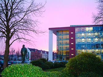 Fritz Henkel square at Henkel's headquarters in Duesseldorf