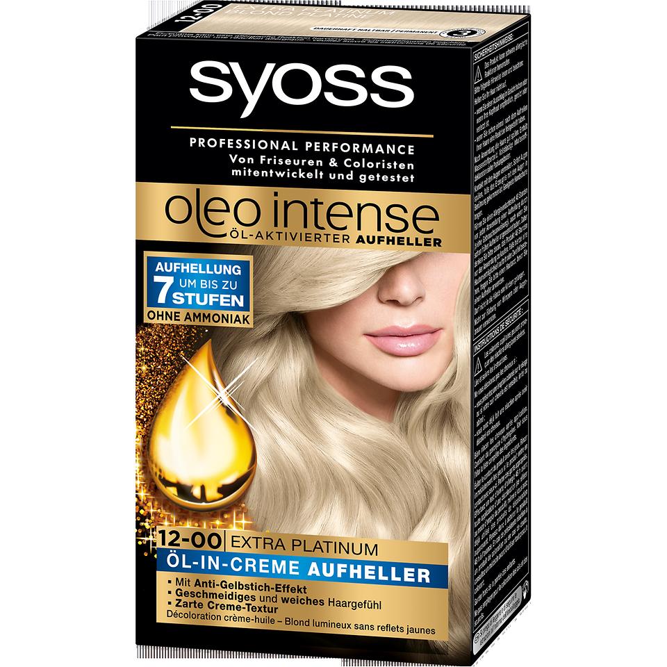 Syoss Oleo Intense Öl-in-Creme Aufheller (12-00) Extra Platinum