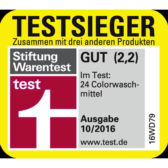 """Stiftung Warentest Gesamtnote """"Gut"""" für Persil Color Megaperls®"""
