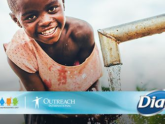 Dial has partnered with Outreach International to support Global Handwashing Day.