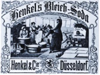 Первый рекламный плакат Henkel's Bleich-Soda, 1885