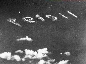 Реклама стирального порошка Persil, выполненная при помощи авиации, 1927