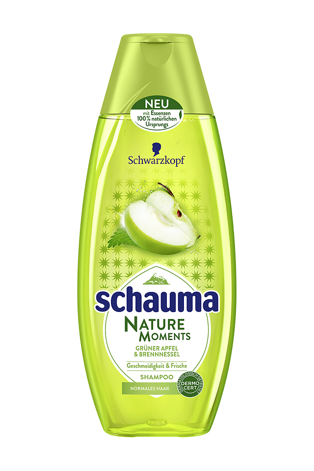 Schauma Nature Moments Grüner Apfel & Brennnessel Shampoo