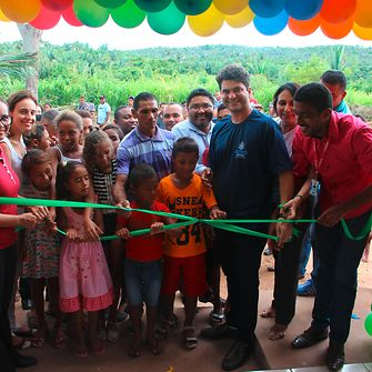 The new school in Mata Virgem was officially opened by Codó mayor Francisco Nagib