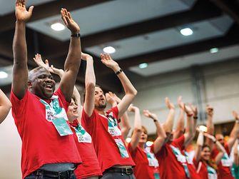 In Deutschland halfen 50 Henkel-Mitarbeiter von verschiedenen Standorten bei den Special Olympics in Hannover.
