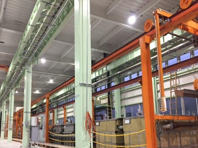 新設されたECC量産ラインの写真