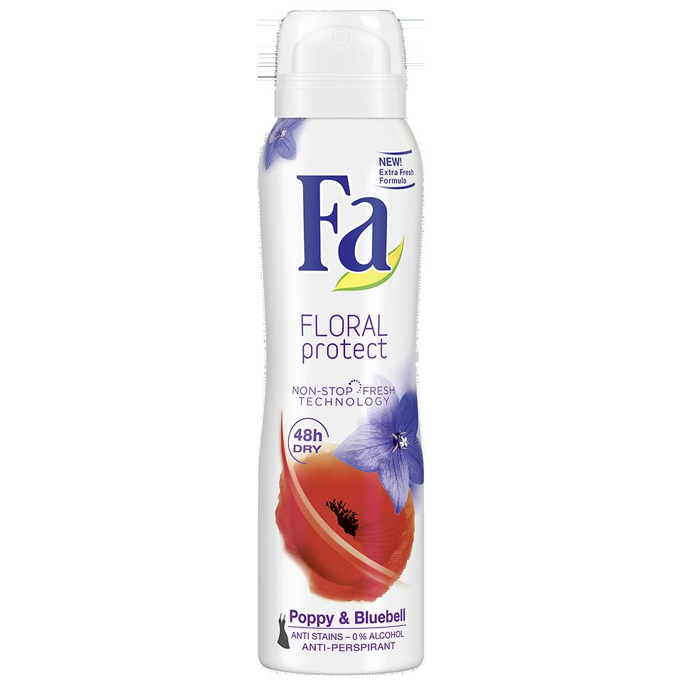 Desodorizante Spray Floral Protect Poppy & Bluebell