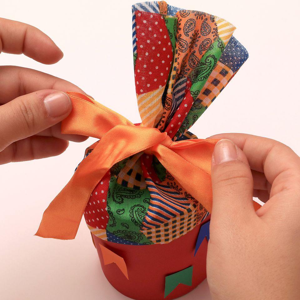 Latinha customizada para Festa Junina
