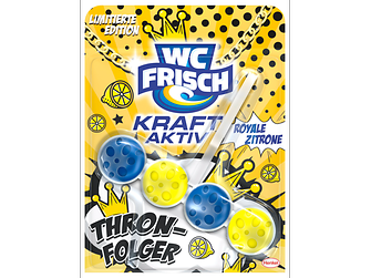 """Die limitierte Edition von WC Frisch in verschiedenen Düften – """"Thronfolger"""" mit royaler Zitrone."""