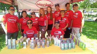 Henkel employees greeted participants at the Special Olympics CT Summer Games with smiles while handing out some of the company's popular DIAL® and RIGHT GUARD® products.