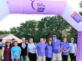 In addition to participating in the American Cancer Society Relay for Life, employees support the cause throughout the year with a variety of fund raisers.
