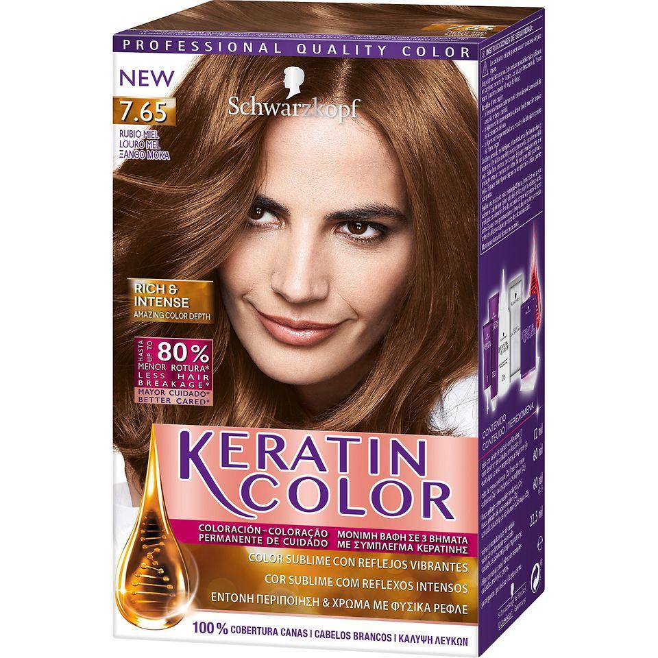 Keratin Color 7.65 Louro Mel