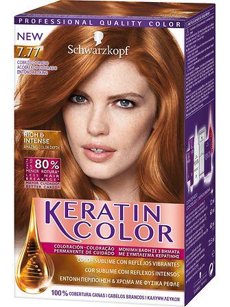 Keratin Color 7.77 Acobreado Dourado