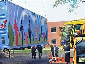 The container passed its inspection, giving it a green light to begin its overseas journey.