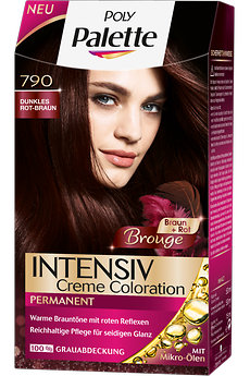 Poly Palette Intensiv Creme Coloration Brouge Dunkles Rot-Braun