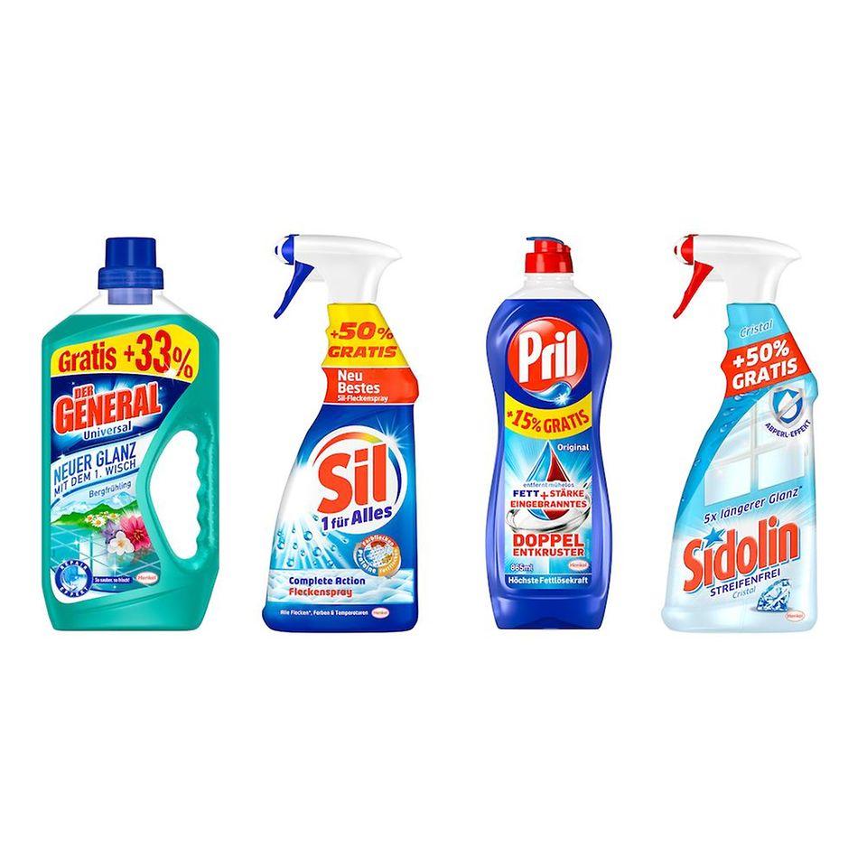 Produktenauswahl der Henkel-Familien-Aktion