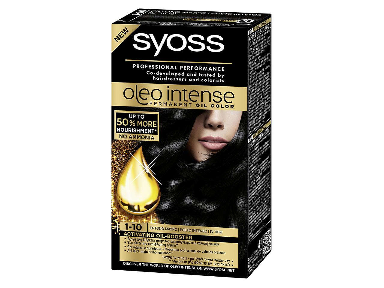 Syoss Oleo Intense 1-10 Preto intenso