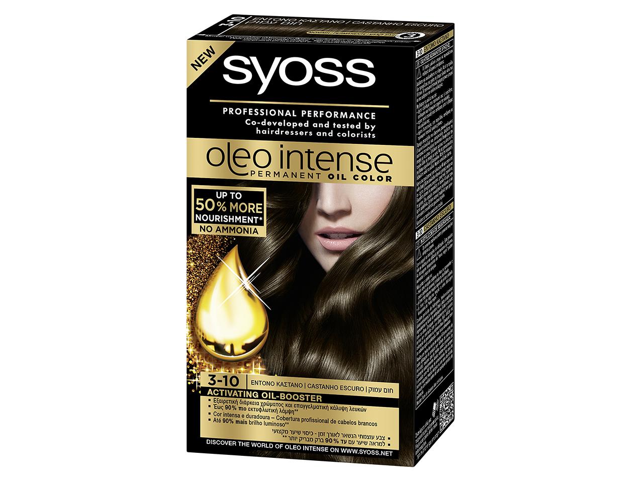 Syoss Oleo Intense 3-10 Castanho escuro