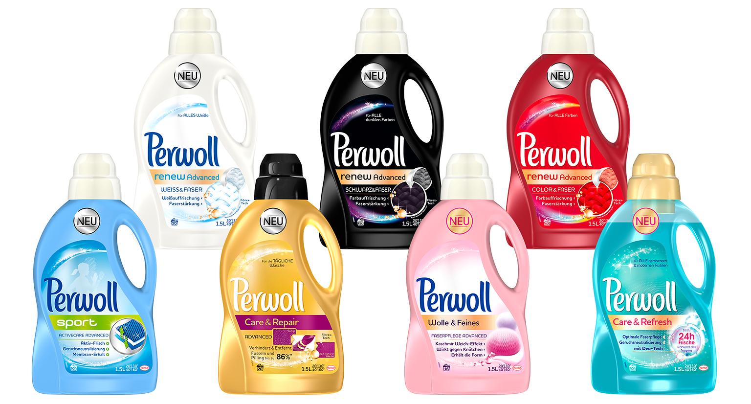 Die neuen Produkte der Perwoll Advanced Range