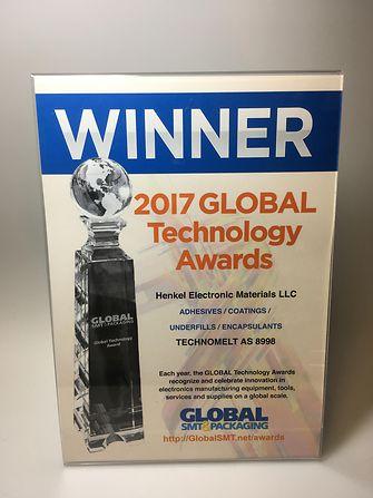 Henkel´s Technomelt AS 8998 received the prestigious Global Technology Award 2017