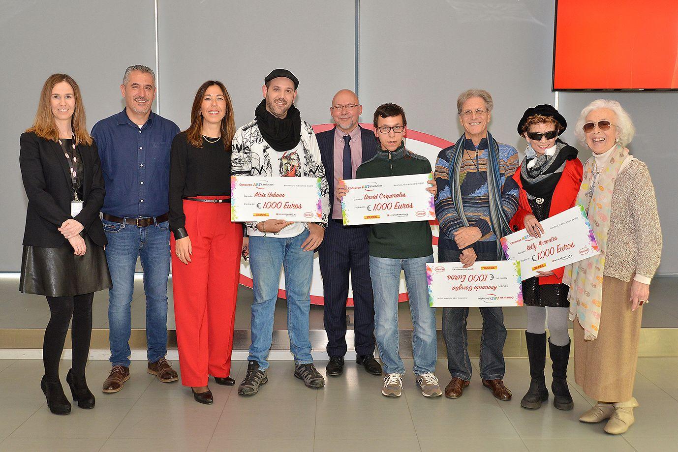 Entrega de premios a los artistas ganadores del concurso Art&Inclusion, organizado por la ONG Artistas Diversos y en colaboración con Henkel y DHL.