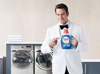 "Persil detergent's superhero, ""The Professional"""