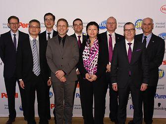 Sustainability Award Laundry & Home Care / Evonik (runner-up): Michael Dreja, Evan Wu, Frank Burkus, Jens Hildebrand, Oliver Wittlake, Xiaolan Wang, Hans-Josef Ritzert, Andreas Fischer, David DelGuercio