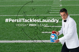 "Persil detergent's superhero, ""The Professional"""