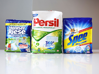 "Henkel sells its Megaperls washing powder in a flexible package called ""quadro seal bag"""