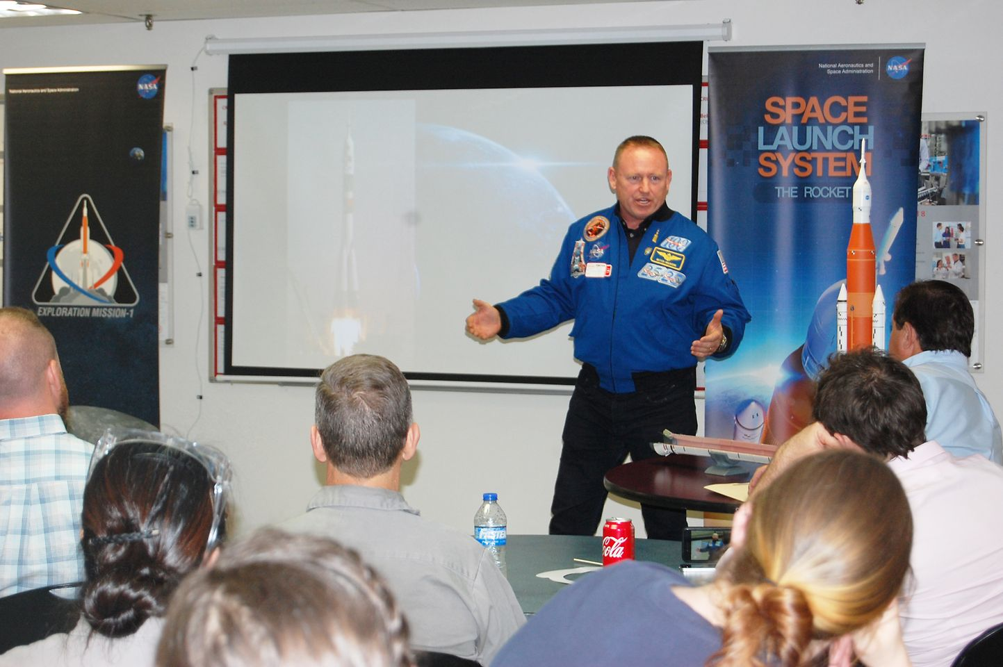 Astronaut Butch Wilmore shares his experiences in space with Seabrook employees.
