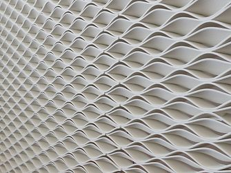 The 3D Printed wall in the Henkel Innovation and Interaction Centre, made from Loctite products and designed by Jennings Design Studio, Dublin and Aectual, Netherlands.