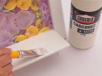 Cascola ensina a fazer quadro découpage