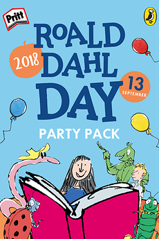 Pritt getting ready to party on Roald Dahl Day