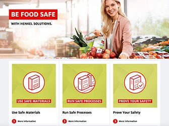 Auf seinem Portal zur Lebensmittelsicherheit bietet Henkel über Online-Seminare Einblicke in das Gebiet der sicheren Lebensmittelmittelverpackung: henkel.com/foodsafety