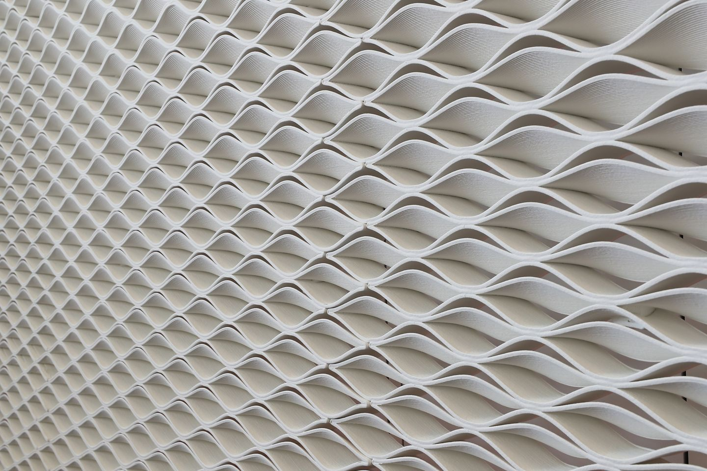 A 3D printed wall in the Henkel Innovation and Interaction Center in Dublin, Ireland, made from Loctite products.