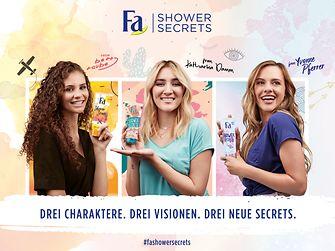 Drei Charaktere, drei Visionen, drei neue Fa Shower Secrets