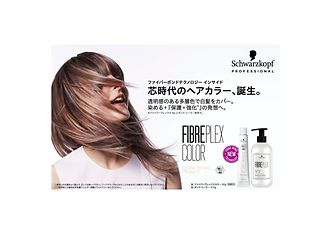 毛髪強化システム【ファイバープレックス】テクノロジー搭載。 透明感のある多層色で白髪をカバー。 染める+『保護・強化*』の発想へ。