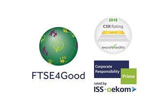 Logos FTSE, Oekom, EcoVadis