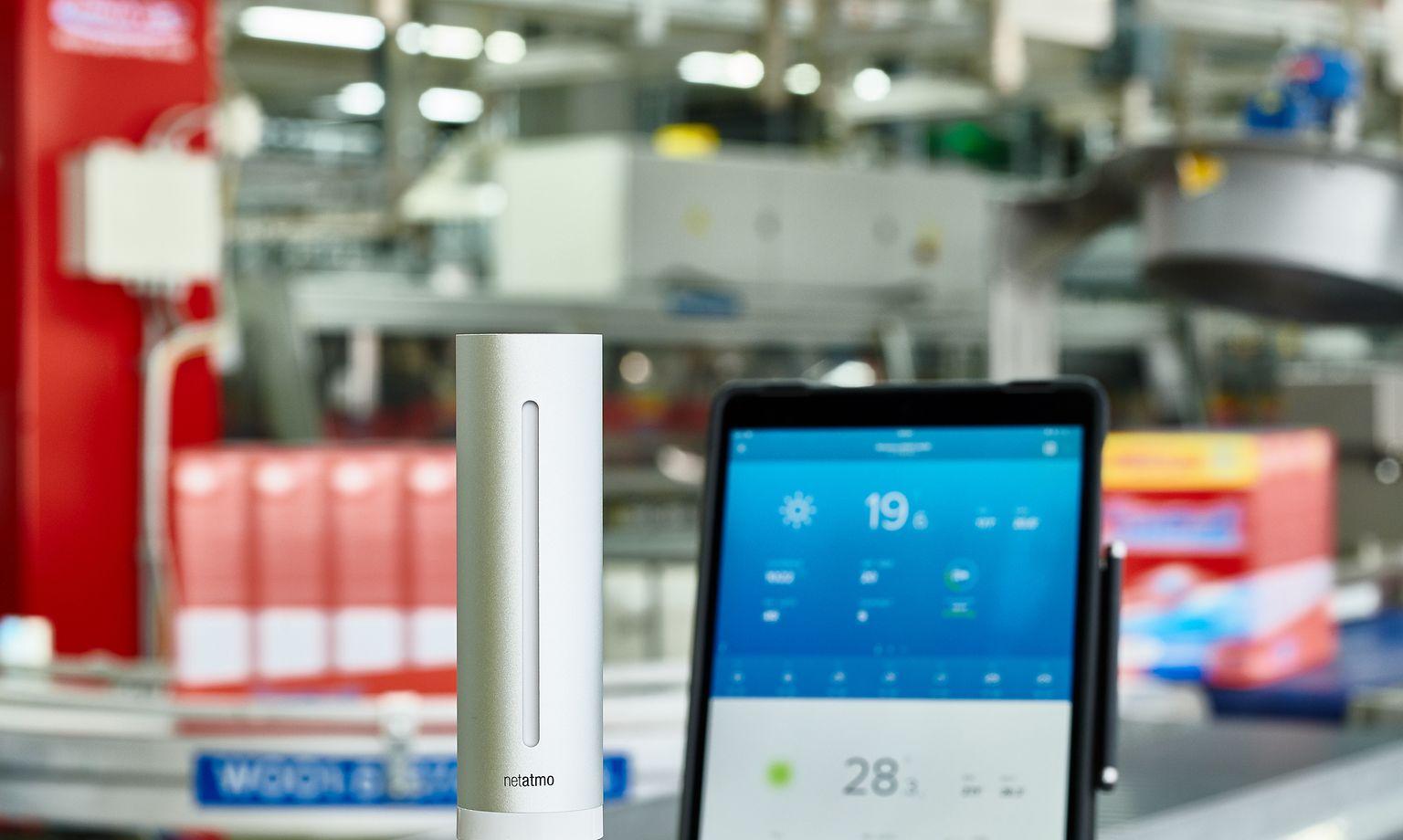 """Henkel installiert als erstes Unternehmen die """"Smart-Home""""-Technologie von Netatmo in seinen Produktionswerken."""