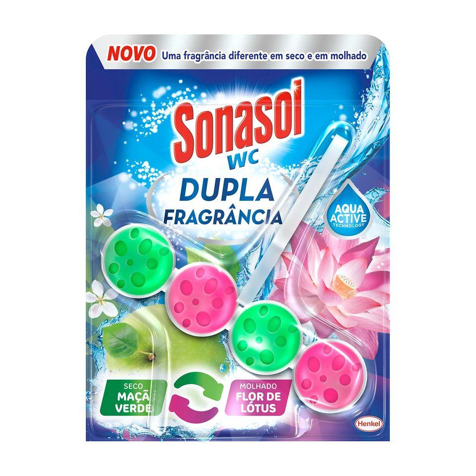 Sonasol WC Dupla Fragrância Maçã Verde e Flor de Lótus