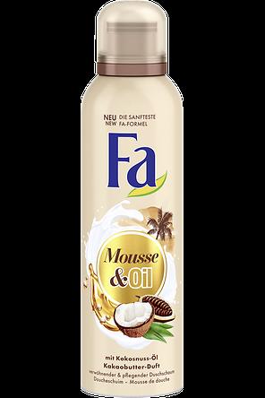 Fa Mousse & Oil Duschschaum mit Kokosnuss-Öl und Kakaobutter-Duft